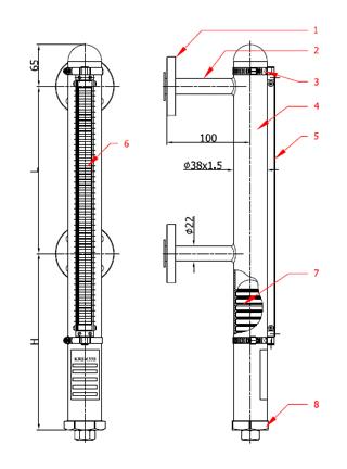 Magnetic Level Gauge - KRS-133 Tip